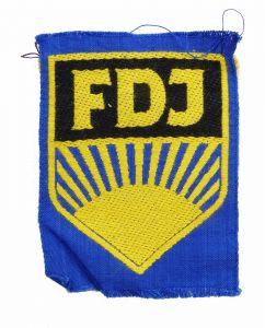 #e5952 Original alter DDR Aufnäher * FDJ * Freie Deutsche Jugend