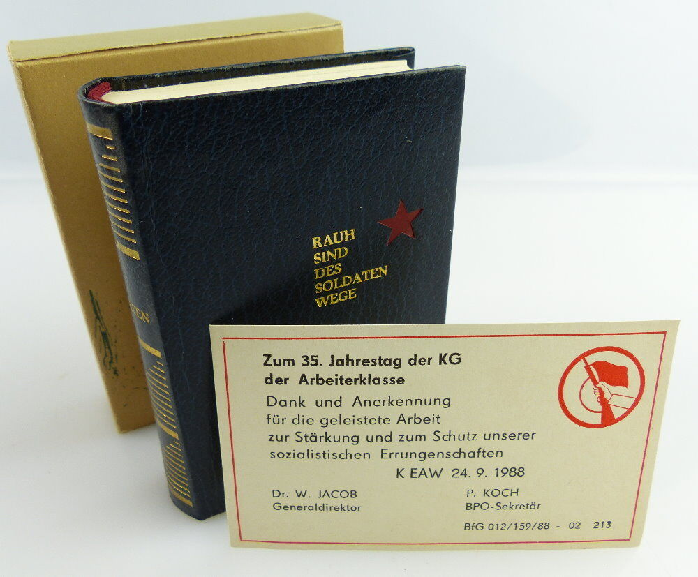 Minibuch : Rauh sind des Soldaten Wege, Militärverlag DDR + Danksagung + e041