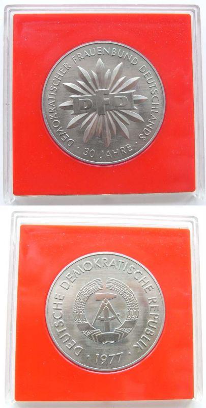 DDR Medaille 30 Jahre DFD Demokratische Frauenbund 1977