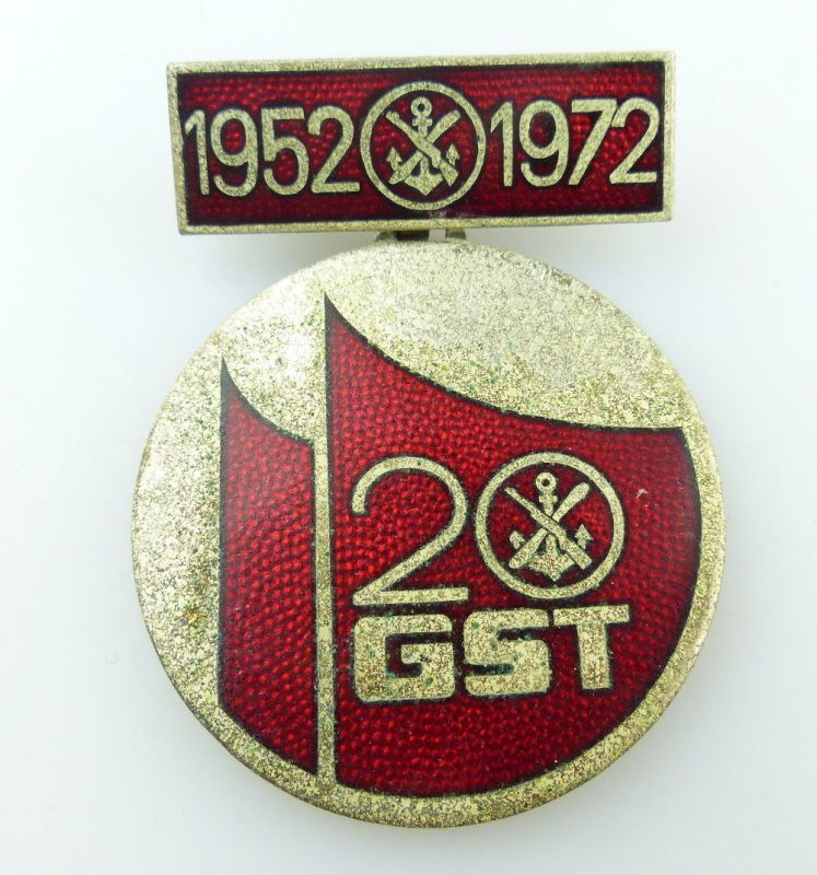 #e2565 20 Jahre GST 1952-1972 DDR Medaille /Abzeichen