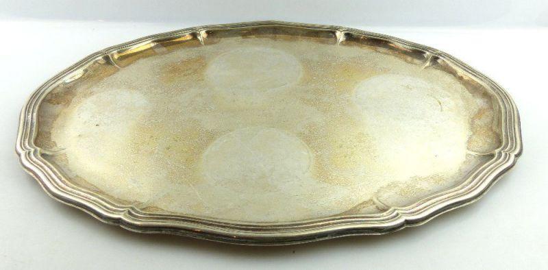 Großes altes Tablett in 835 (Ag) Silber, Dresdner Hofmuster, Gebrüder Kühn e1406
