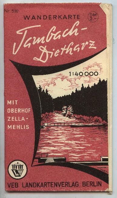 Wanderkarte Tambach-Dietharz m. Oberhof Zella-Mehlis