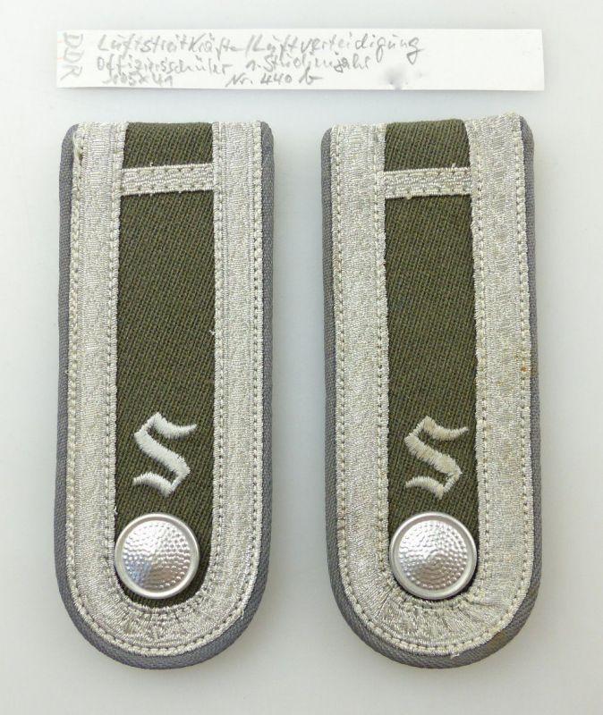 #e3677 1 Paar DDR Schulterstücke NVA Luftverteidigung Offizierschüler Nr. 440 b