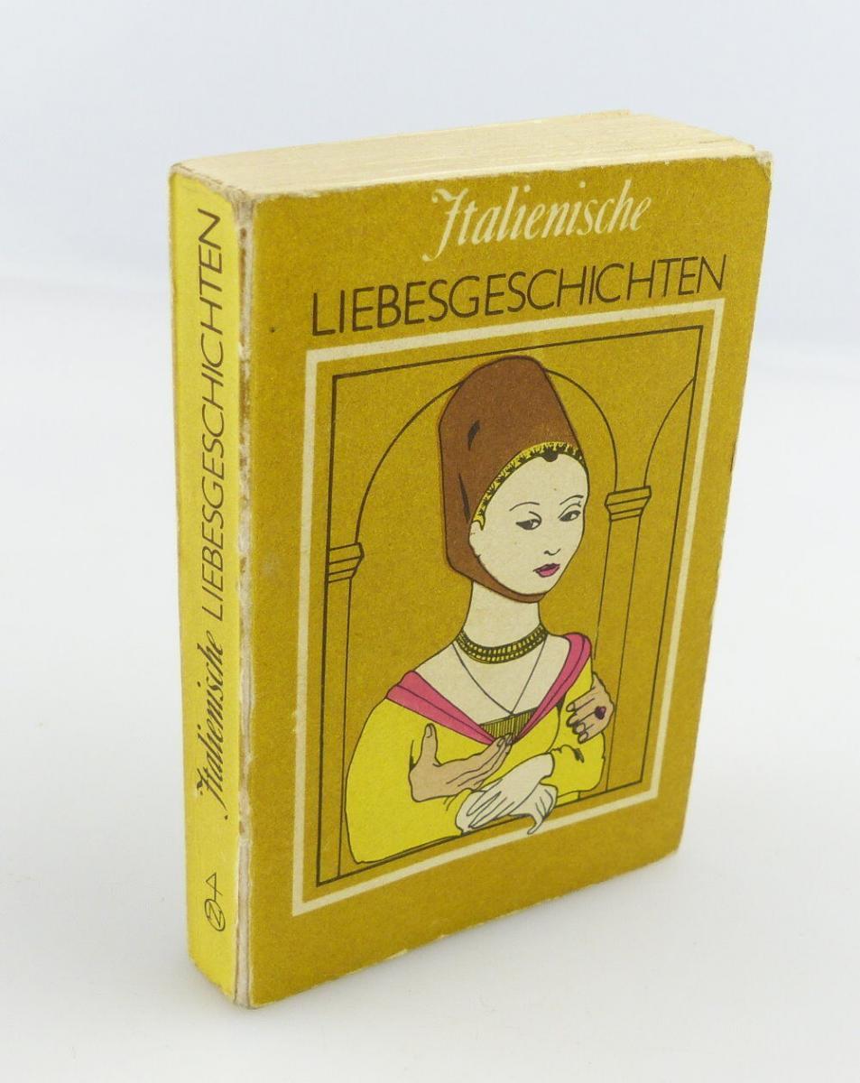 #e2921 Minibuch: Italienische Liebesgeschichten 1. Auflage Leipzig 1981
