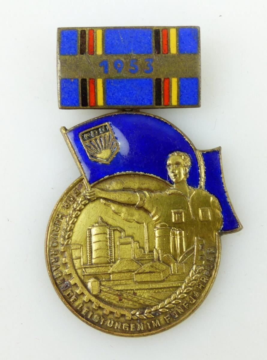 Medaille: 1953 Für hervorragende Leistungen Nr. 01296 Fünjahrplan FDJ e1750