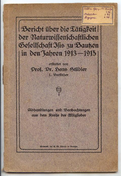 Bericht naturwissenschaftliche Gesell. Ilis zu Bautzen