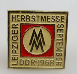 Abzeichen: Leipziger Herbstmesse September DDR MM 1968 bu0802