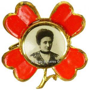 KPD - SPD patriotisches Sympathie Abzeichen Rosa Luxemburg ca. 1910 (015KPD)