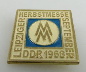 Abzeichen Leipziger Herbstmesse September DDR MM 1968 bu0803