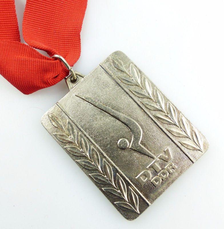 #e5540 DDR Medaille DTV Deutscher Turn Verband Meisterschaften in Silber