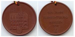 Meissen Medaille 500 Jahre Albrechtsburg Böttgersteinz.