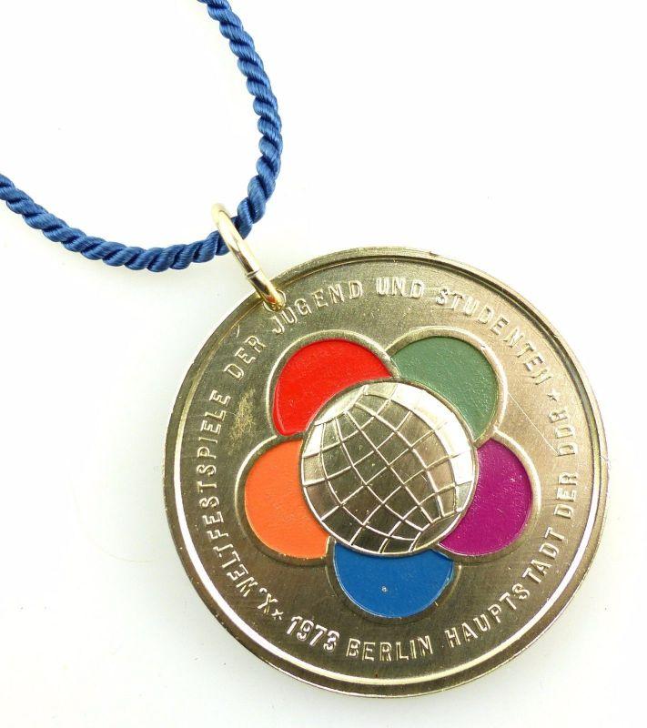 #e5539 DDR Medaille X. Weltfestspiele der Jugend und Studenten 1973 Suhl