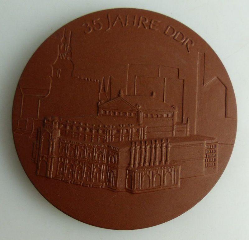 Meissen Medaille: 35 Jahre DDR, 10 Jahre HST Heizungs- & Sanitärtechn, Orden1786