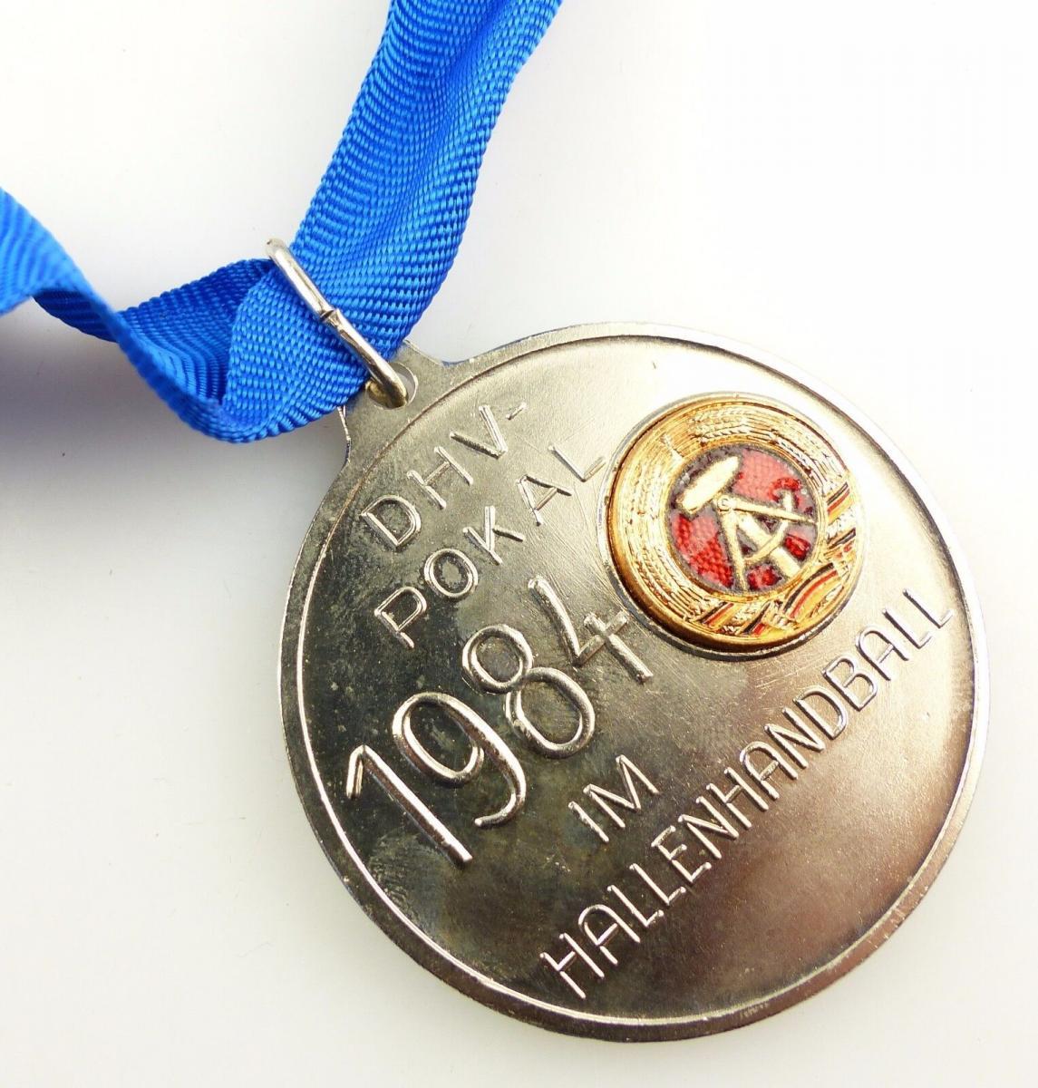 #e5537 DDR Medaille in Silber DHV Pokal 1984 im Hallenhandball