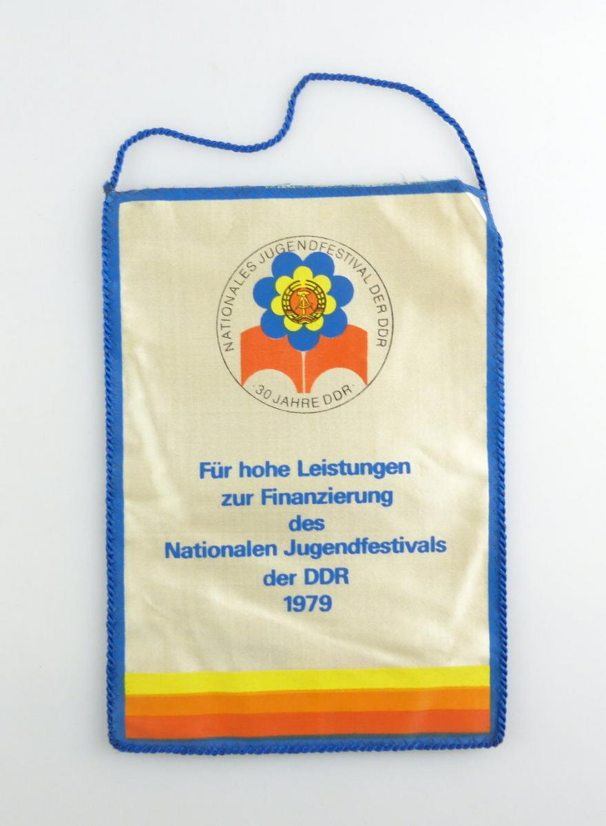 #e2901 DDR Wimpel: 30 Jahre DDR Nationales Jugendfestival 1979 für hohe Leistung 0