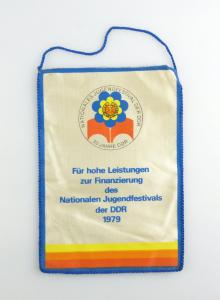 #e2901 DDR Wimpel: 30 Jahre DDR Nationales Jugendfestival 1979 für hohe Leistung