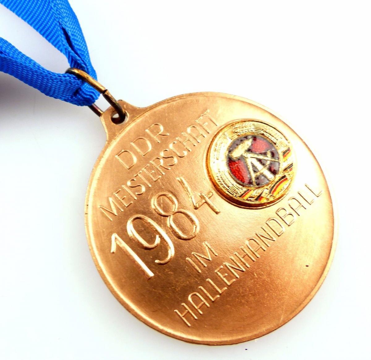 #e5536 DDR Medaille in Bronze Meisterschaft im Hallenhandball 1984 DHV