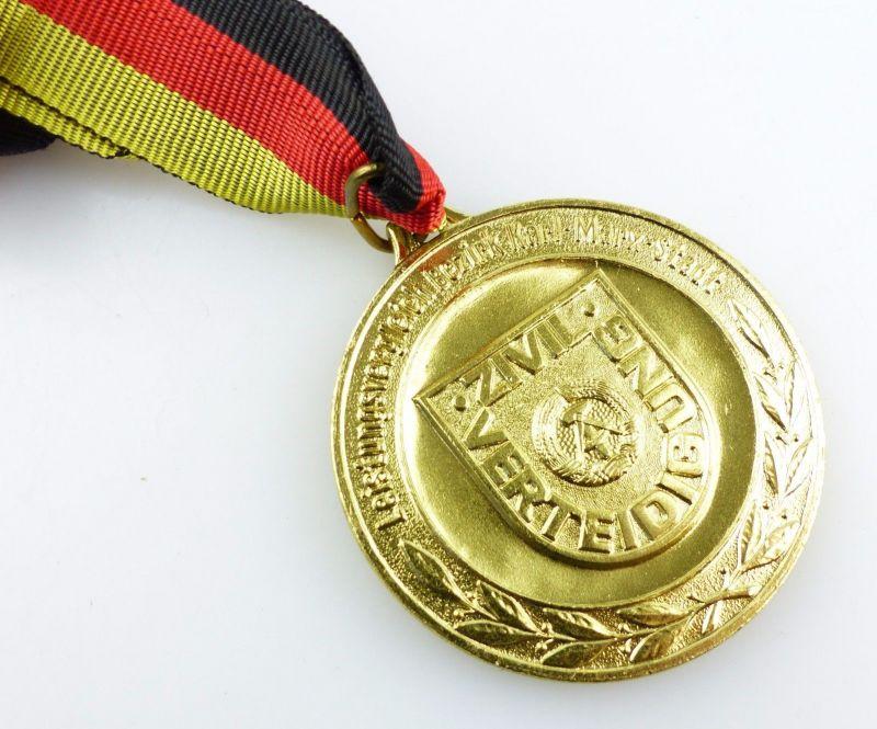 #e5534 DDR Medaille in Gold Leistungsvergleich Bezirk Karl-Marx-Stadt Zivilvert.