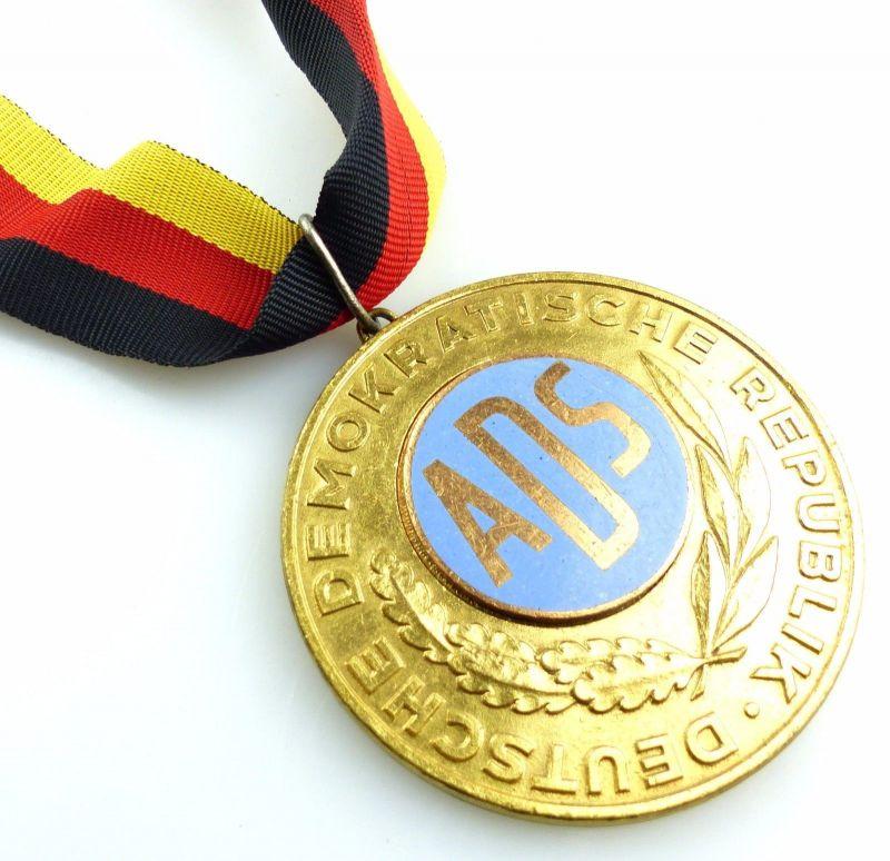 #e5533 DDR Medaille Deutsche Demokratische Republik ADS Leichtazhletik 1967 Gold
