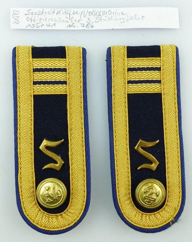 #e3648 1 Paar DDR NVA Schulterstücke Volksmarine Offiziersschüler 3. Jahr Nr.786