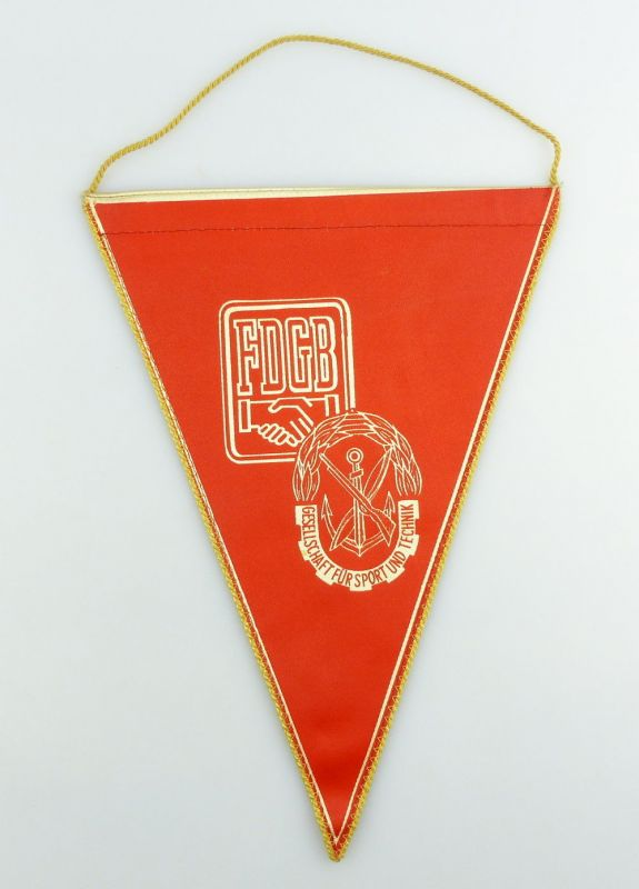 #e2895 DDR Wimpel: Kollektiv der sozialistischen Wehrerziehung 1967 FDGB GST