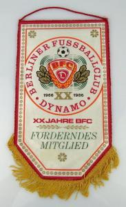 Wimpel BFC Dynamo XX Jahre BFC Fördern des Mitglieds Orden2168
