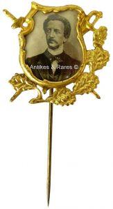 KPD - SPD patriotisches Sympathie Abzeichen Ferdinand Lassalle ca. 1910 (007KPD)