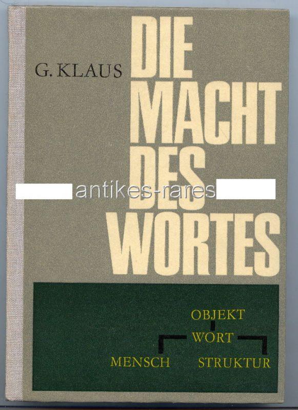 Die Macht des Wortes VEB Verlag der Wissenschaften 1968 Buch1158
