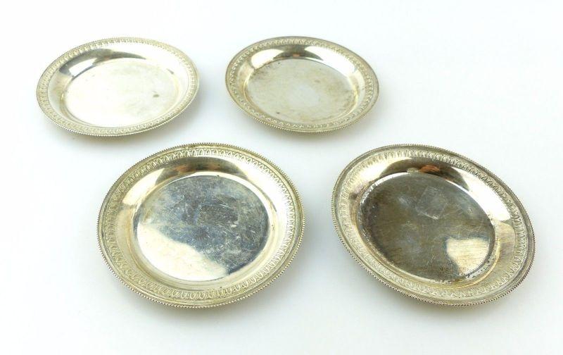 e5083 4 kleine Untersetzer 800 (Ag) Silber mit dekorativem Rand 6 81574480c2