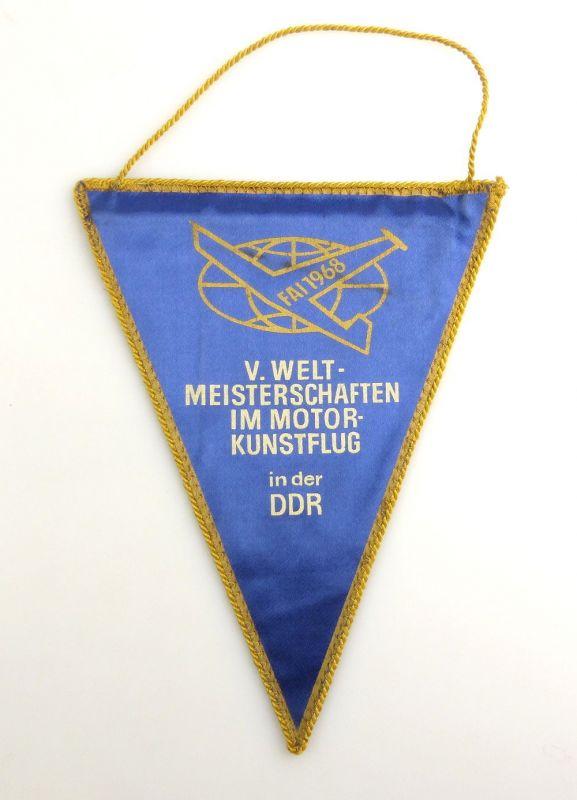 #e2891 DDR Wimpel: V. Weltmeisterschaften im Motorkunstflug in der DDR