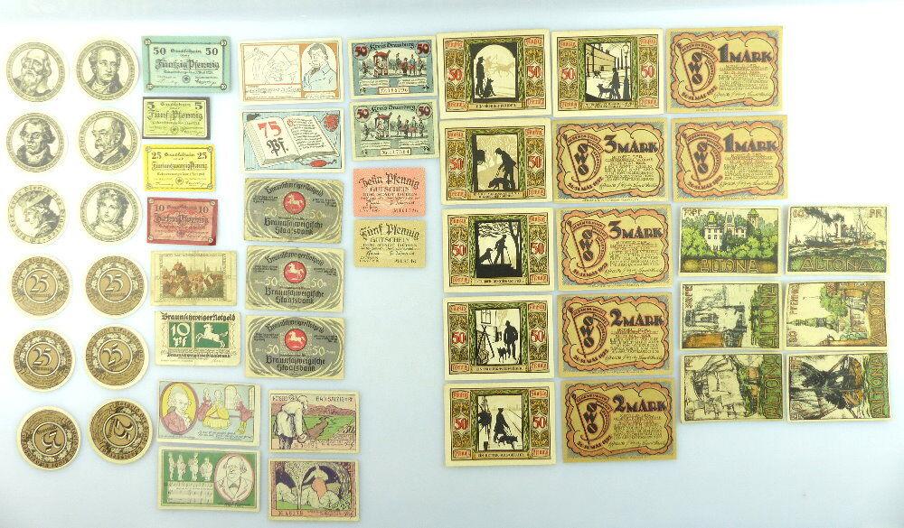 Verschiedene Serien Notgeld - 49 Scheine - z.B. Altona, Oldenburg etc. e1009