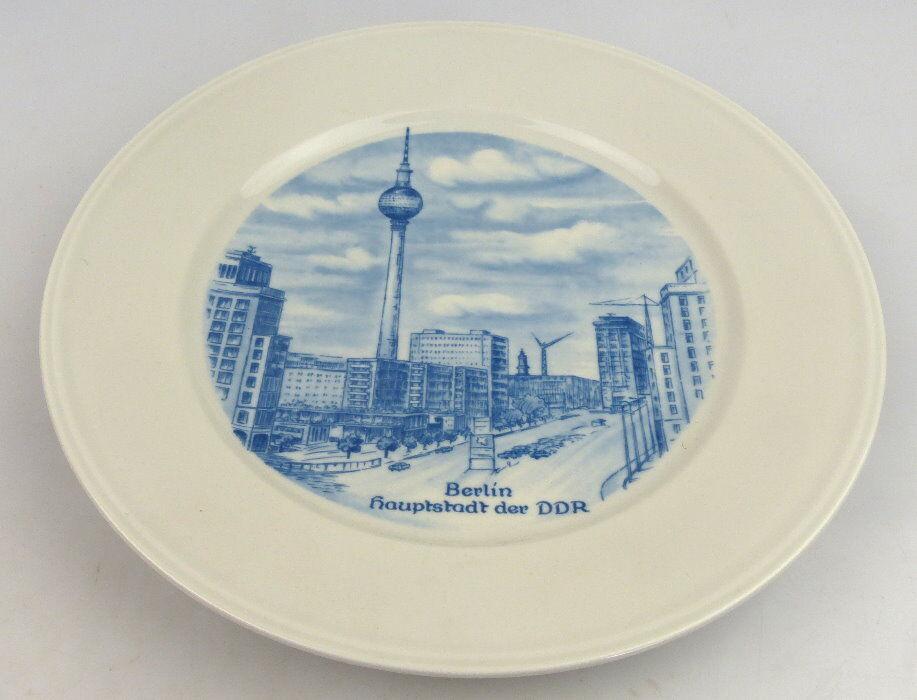 Andenkenteller: Berlin Hauptstadt der DDR, echt Weimar Kobalt (so073)