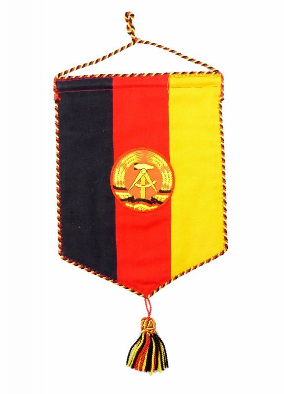 #e6935 Wimpel: Original alter seltener DDR Staatswimpel aus Ministerium ! 1