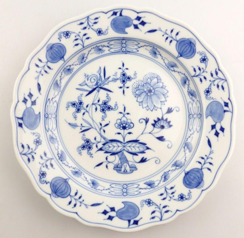 #e5480 Meissen Porzellan Abendbrotteller Teller Zwiebelmuster Fehlware Ø 18,2 cm