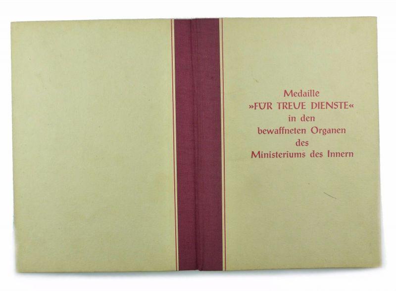 #e6934 DDR Frauen Urkunde Treue Dienste Medaille für 10 Jahre MdI Silber 1959 1