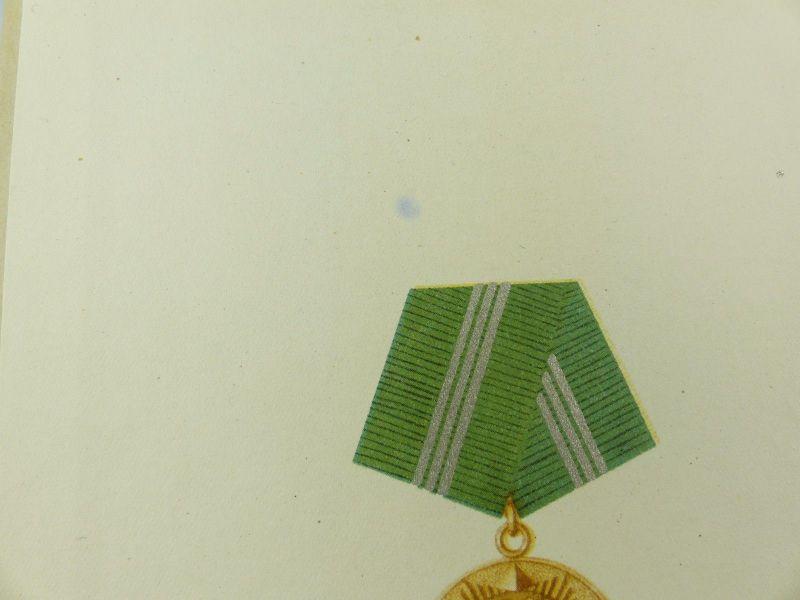 #e6934 DDR Frauen Urkunde Treue Dienste Medaille für 10 Jahre MdI Silber 1959 3