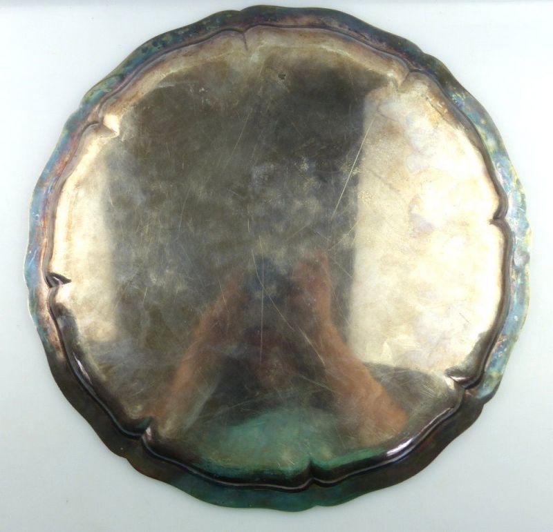 Tablett aus Botschafterhaushalt mit namenhaften Unterschriften 800 Silber e1366 2
