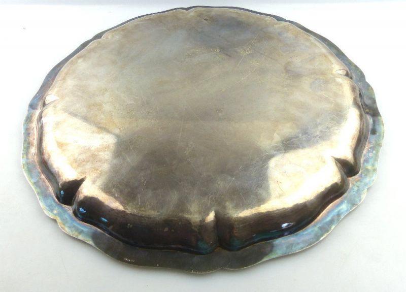 Tablett aus Botschafterhaushalt mit namenhaften Unterschriften 800 Silber e1366 3