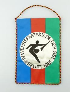 #e2882 DDR Wimpel: IV. Wehrspartakiade der GST Erfurt 1981