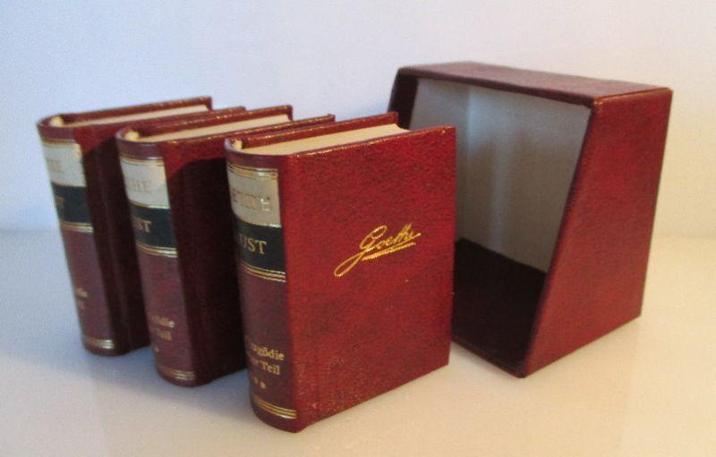 Minibuch: Goethe Faust 3 Bücher-Band Eine Tragödie Offizin Andersen Nexö bu0218