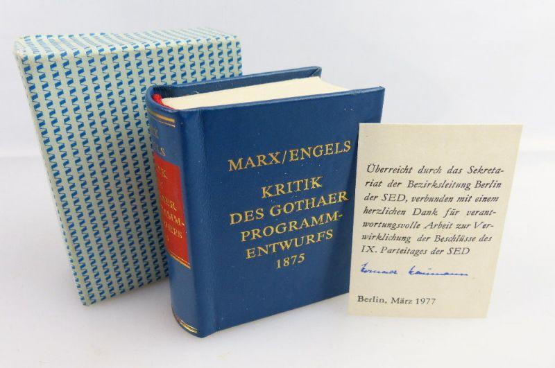 Minibuch: Marx Engels - überreicht durch Bezirksleitung Berlin der SED!! e293