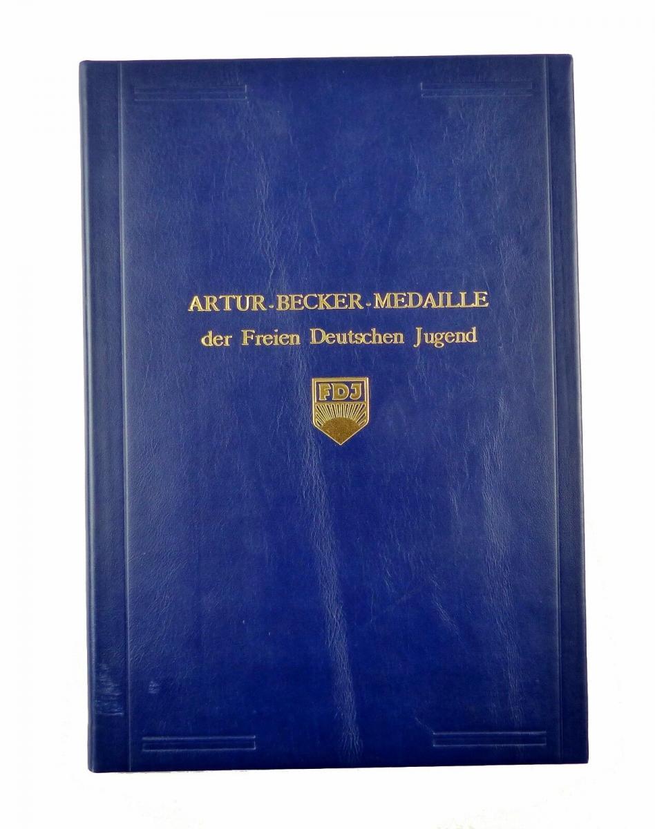#e6587 DDR Urkundenmappe *extrem selten* Artur-Becker-Medaille der FDJ