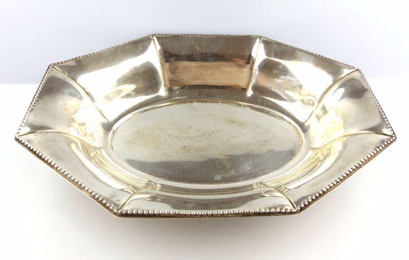 #e5050 Große Obstschale aus 830 (Ag) Silber um 1920 (252 g) Halbmond & Krone