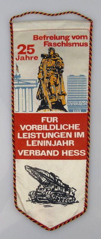 Wimpel: 25 Jahre Für vorbildliche Leistungen Leninjahr Verband Hess , Orden2134