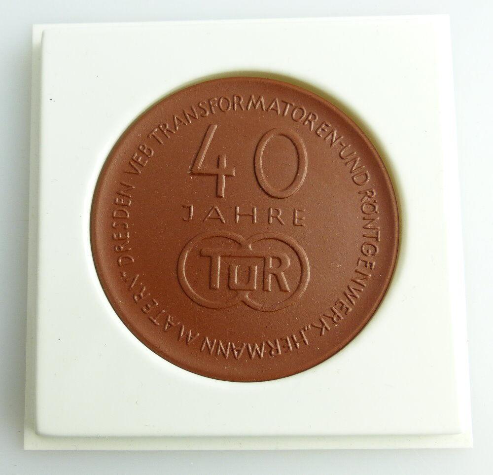 Meissen Medaille: 40 Jahre TUR Transformatoren- und Röntgenwerk Herm, Orden2764