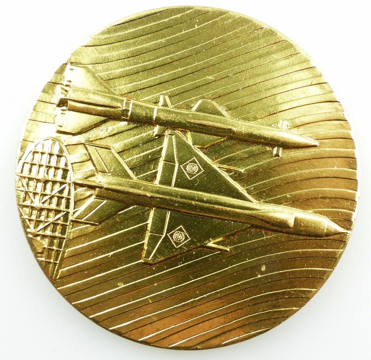 #e5461 Ehrengeschenk Medaille NVA Luftstreitkräfte Radar / Rakete / Jagdflieger 1
