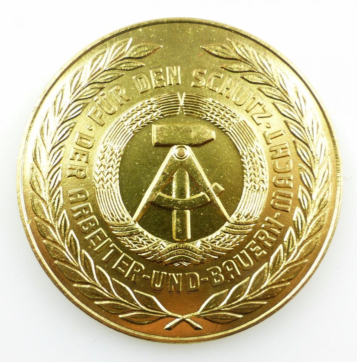 #e5461 Ehrengeschenk Medaille NVA Luftstreitkräfte Radar / Rakete / Jagdflieger 2