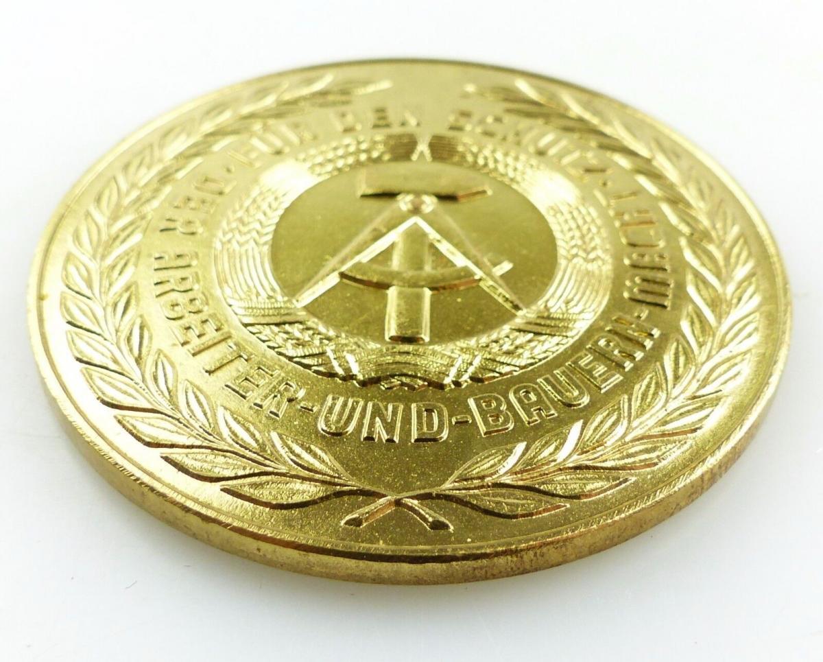 #e5461 Ehrengeschenk Medaille NVA Luftstreitkräfte Radar / Rakete / Jagdflieger 3