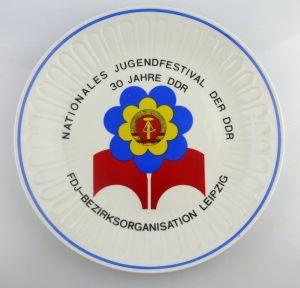 Teller: 30 Jahre Nationales Jugendfestival der DDR FDJ Bezirksorganisatio, so246