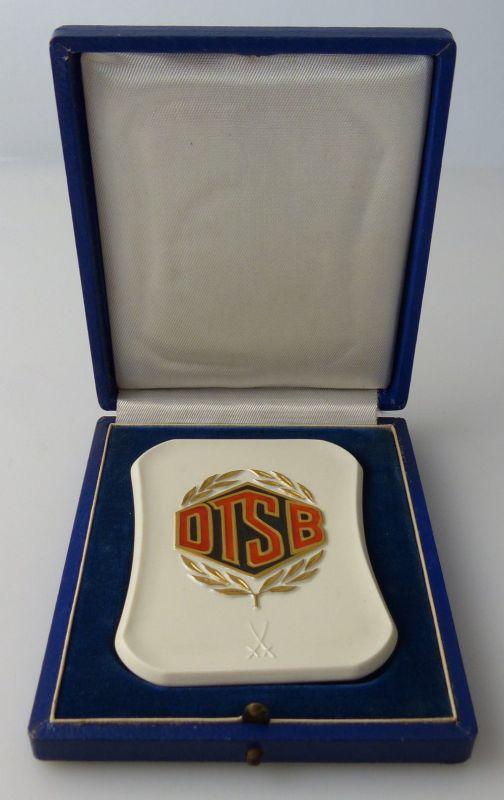 Meissen Plakette DTSB In Sportfreunschaft vom Präsidium des DTSB, Orden2731